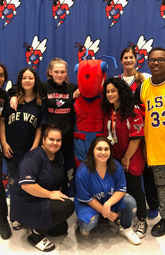 GEAR UP students celebrating Spirit Week at James Monroe High School, October 5th