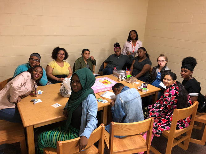 Girls Lunch Group at Edison Career & Technology High School, October 15th
