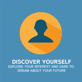 Discover yourself, explore your interest and dare to dream about your future.
